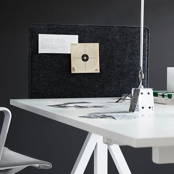 string string works height adjustable work desk 140 cm ash
