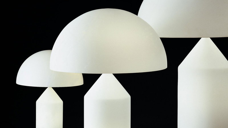 Oluce Lampada Da Tavolo Atollo 236 Bianca Finnish Design Shop