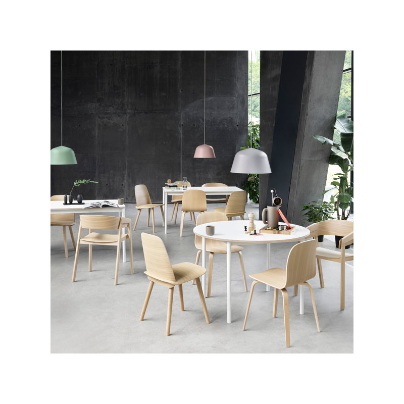 Muuto base table 190 x 85 cm laminate with abs edges for Table bar 85 cm