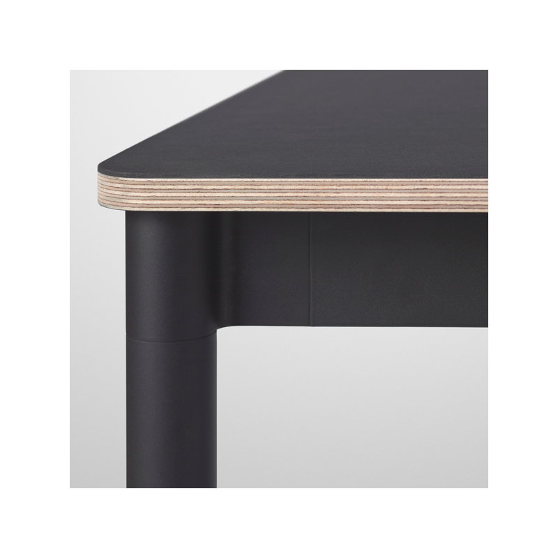 muuto base table 140 x 80 cm linoleum with plywood edges