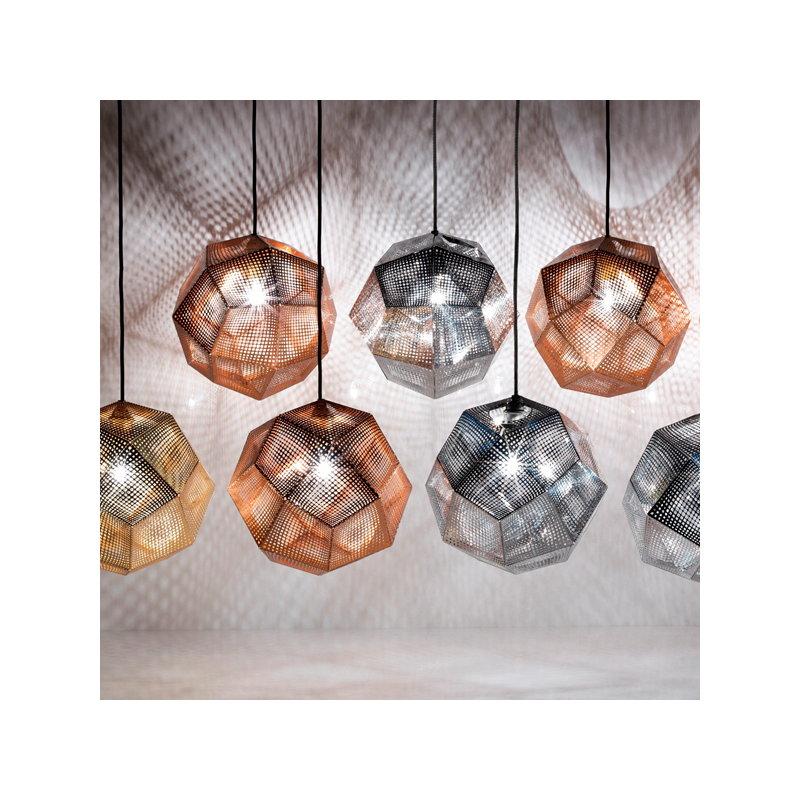 Tom Dixon Nuova Lampada Etch : Tom dixon lampada a sospensione etch rame finnish
