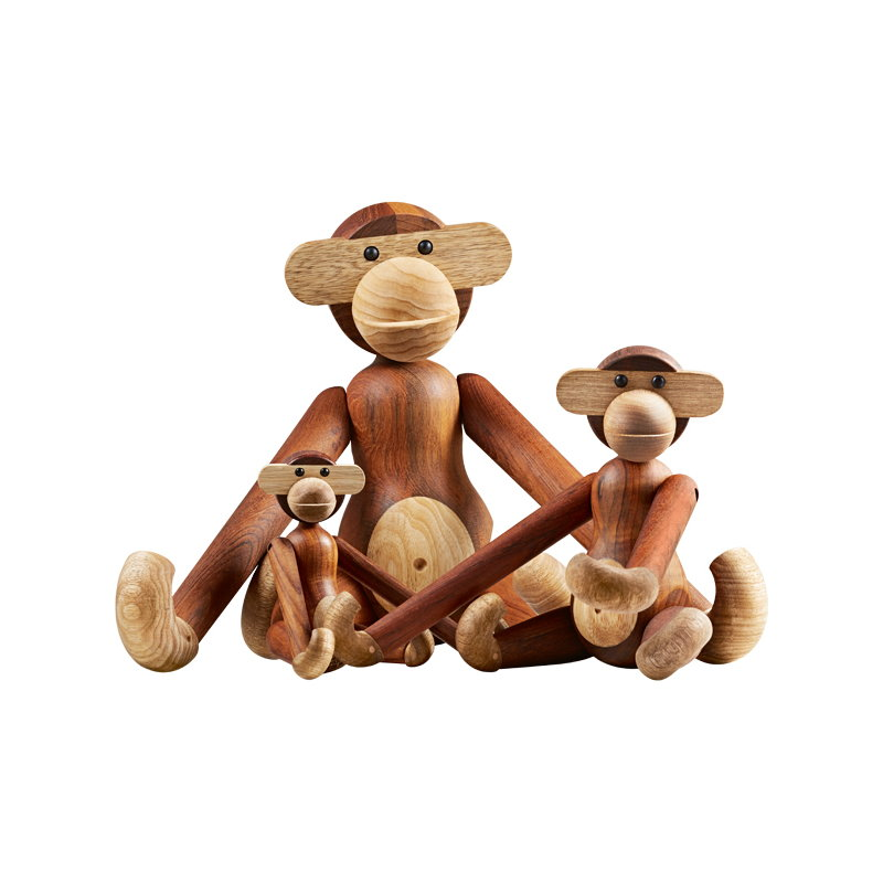 kay bojesen wooden monkey medium teak finnish design shop. Black Bedroom Furniture Sets. Home Design Ideas