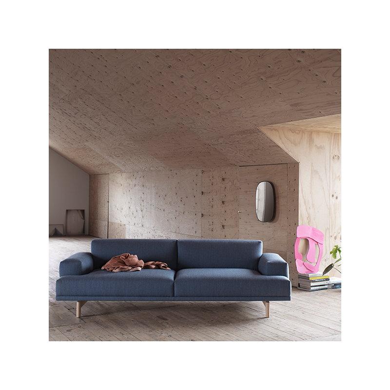 Compose Sofa 2 Seater, Oak Legs