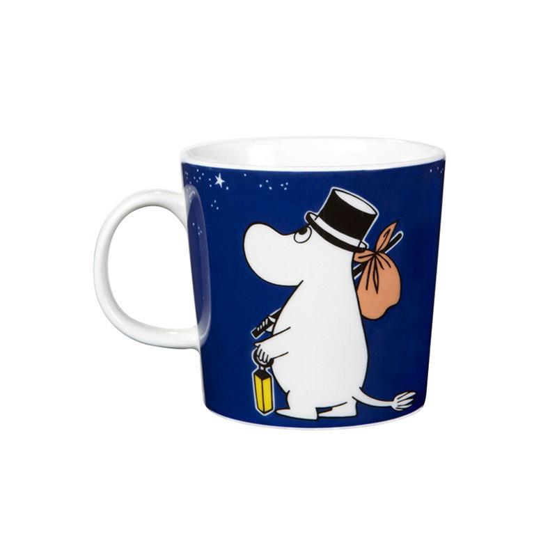 Arabia moomin mug moominpappa blue finnish design shop for Blue mug designs
