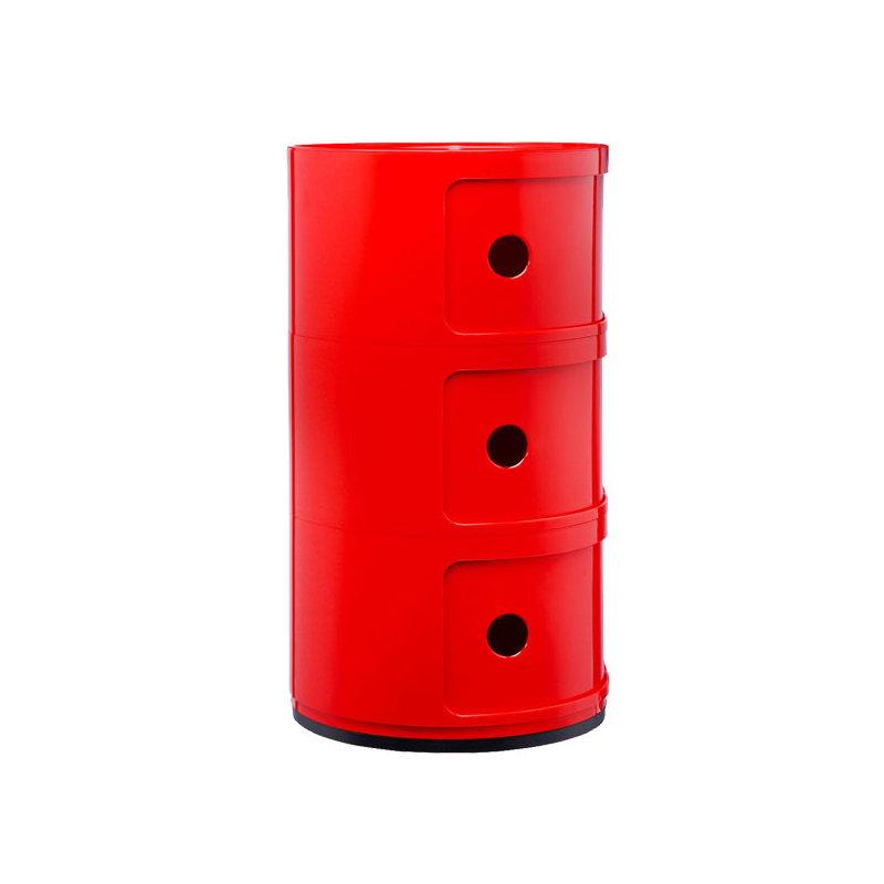 Kartell mobile contenitore componibili 3 moduli rosso for Mobile contenitore