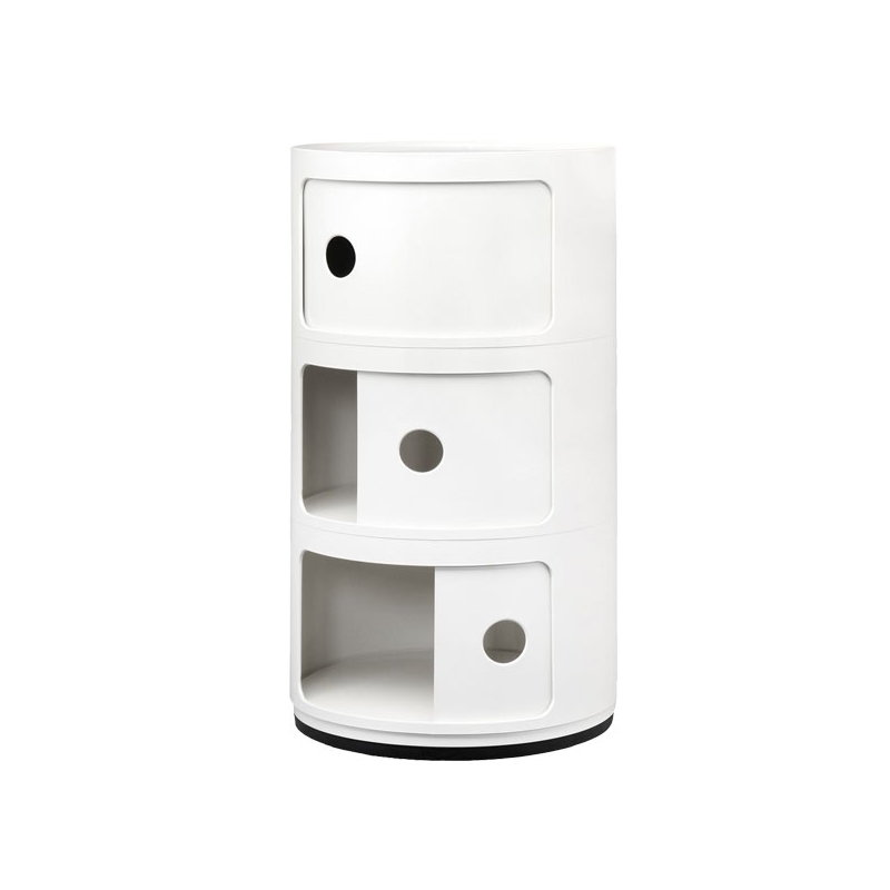 kartell mobile contenitore componibili 3 moduli bianco finnish design shop. Black Bedroom Furniture Sets. Home Design Ideas