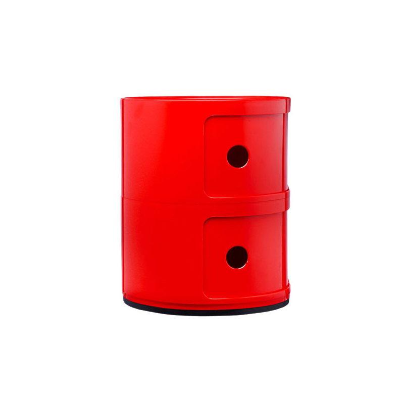 Kartell mobile contenitore componibili 2 moduli rosso for Mobile contenitore