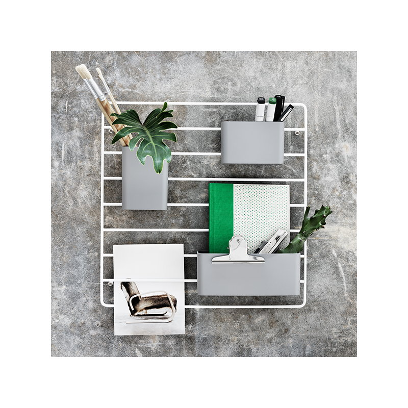 String String + grid for wall, white | Finnish Design Shop