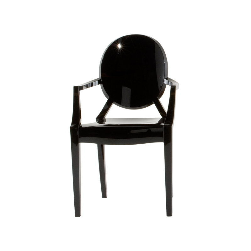 Kartell sedia louis ghost nera finnish design shop for Sedia design nera