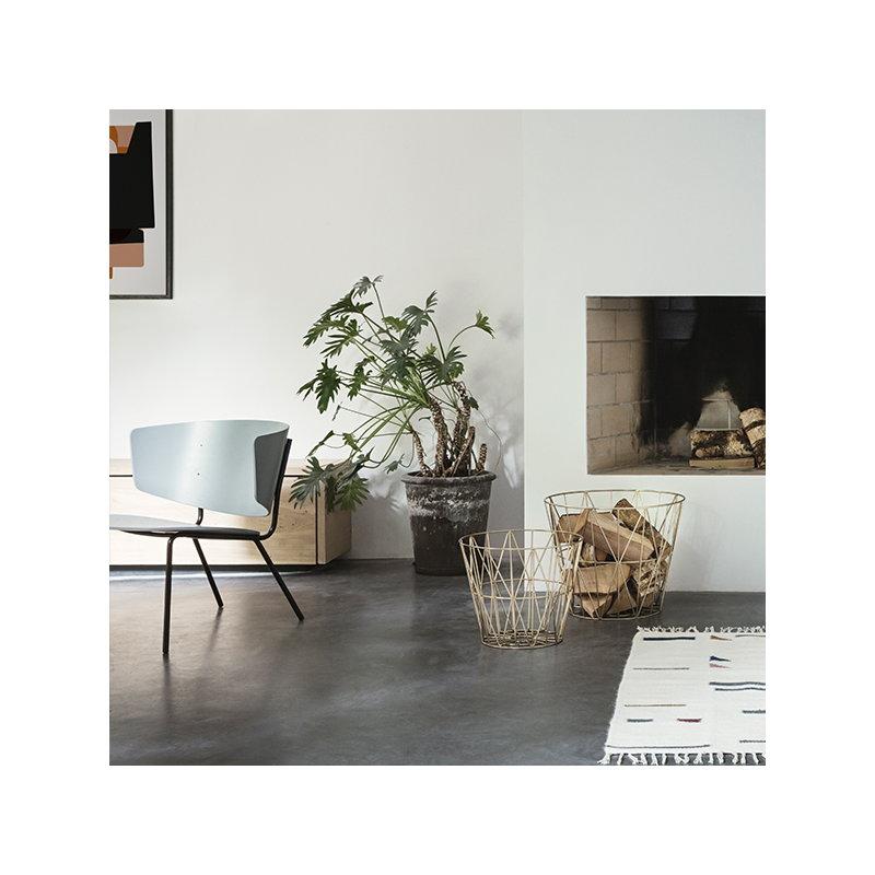 ferm living wire basket brass large finnish design shop. Black Bedroom Furniture Sets. Home Design Ideas