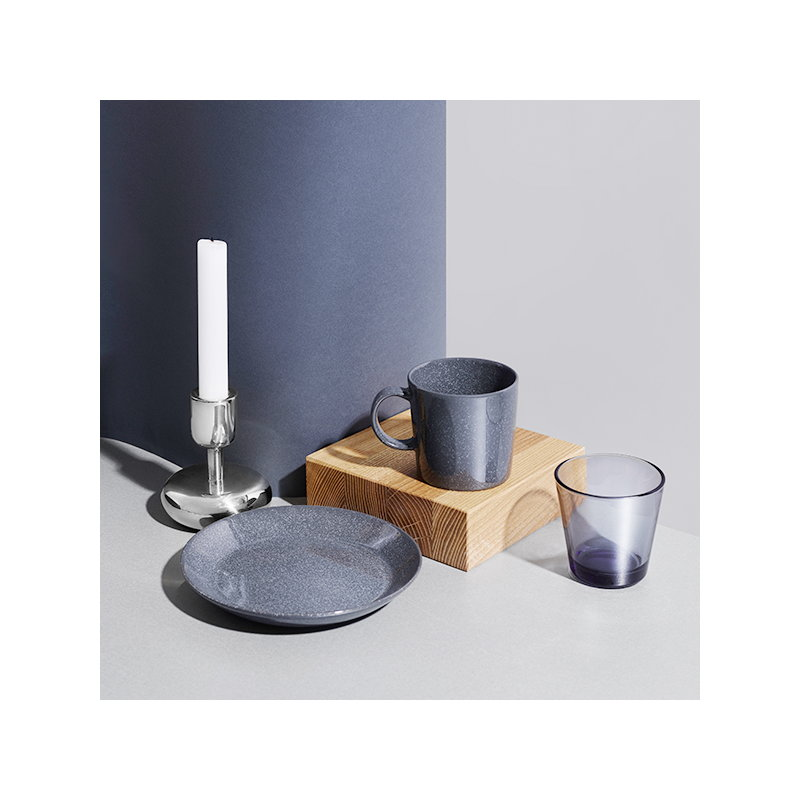 iittala teema plate 17 cm dotted grey finnish design shop. Black Bedroom Furniture Sets. Home Design Ideas