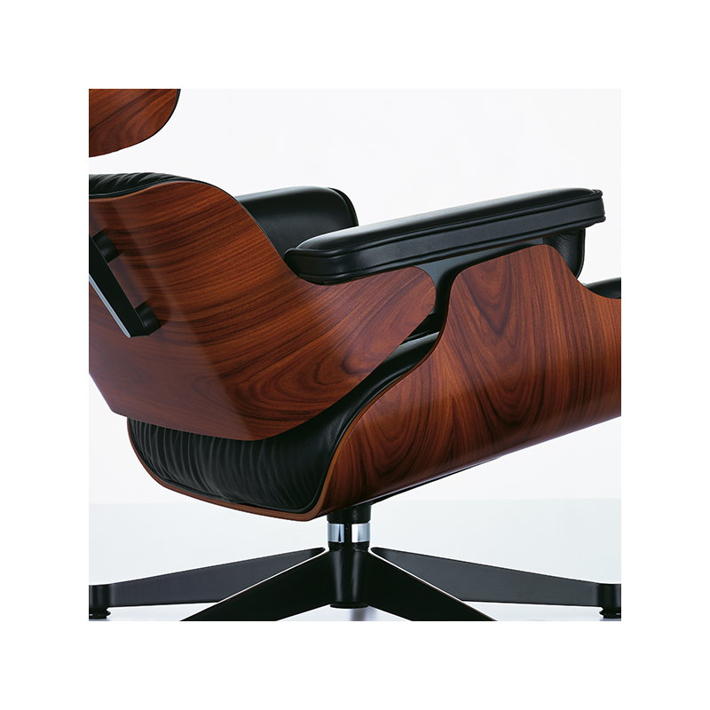 Wondrous Eames Lounge Chair New Size Palisander Black Leather Short Links Chair Design For Home Short Linksinfo