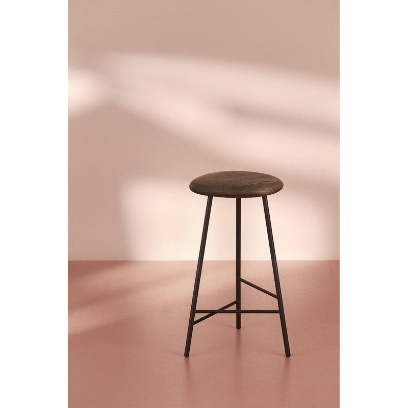 Sensational Warm Nordic Pebble Bar Stool 75 Cm Smoked Oak Black Machost Co Dining Chair Design Ideas Machostcouk