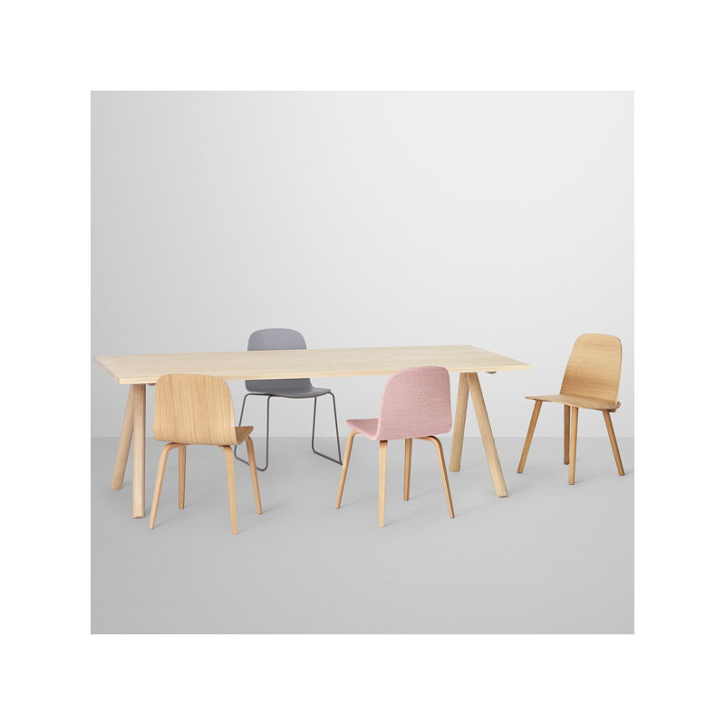 visu chair wood frame natural oak - Natural Wood Frame