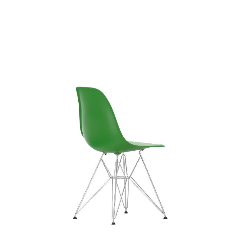 Sedia Eames DSR, verde - cromo