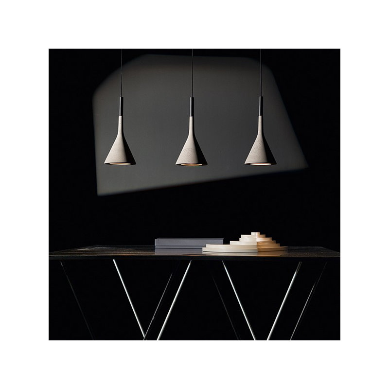 Foscarini lampada a sospensione aplomb grigia finnish - Lampada sospensione design ...