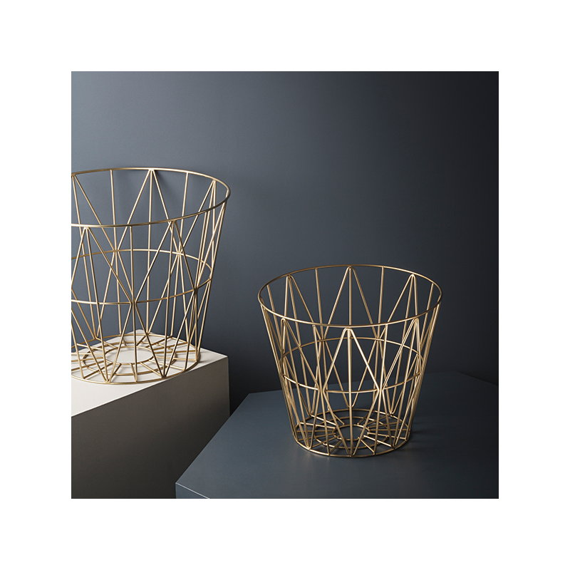 ferm living wire basket brass large finnish design shop. Black Bedroom Furniture Sets. Home Design Ideas