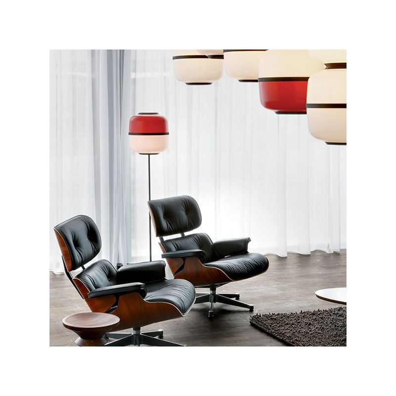 Sensational Vitra Eames Lounge Chair New Size Walnut Black Leather Short Links Chair Design For Home Short Linksinfo