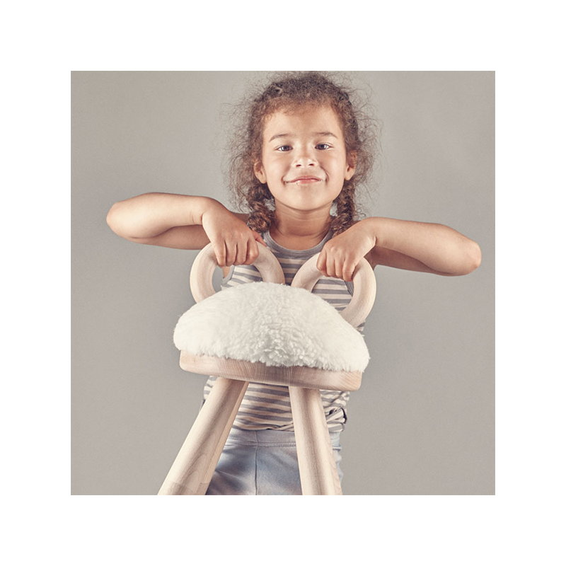 Thai Gifts Childrens Wooden Stool White Sheep