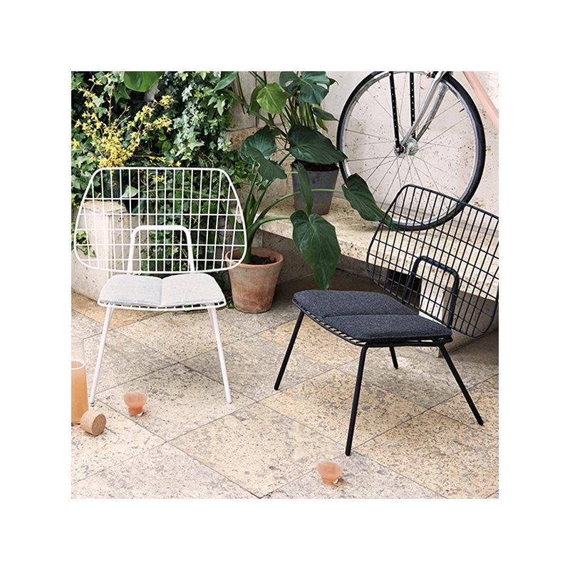 WM String Cushion For Lounge Chair, Outdoor, Dark Grey