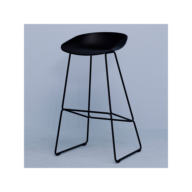 hay about a stool aas38 black finnish design shop. Black Bedroom Furniture Sets. Home Design Ideas