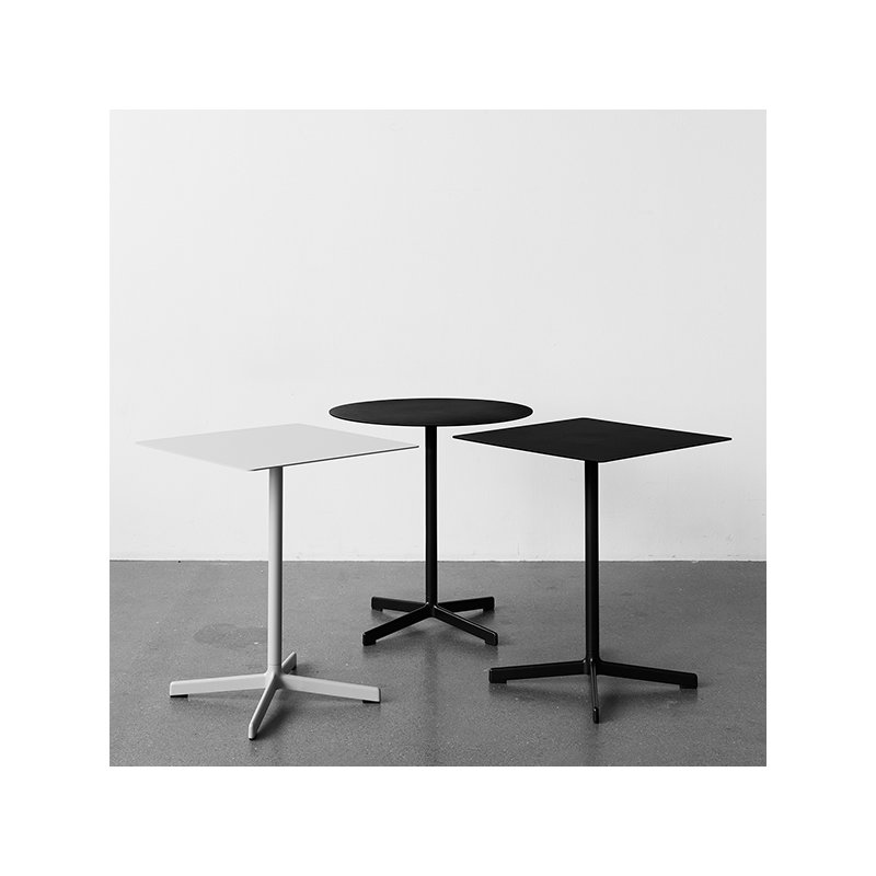 hay neu table square light grey finnish design shop. Black Bedroom Furniture Sets. Home Design Ideas