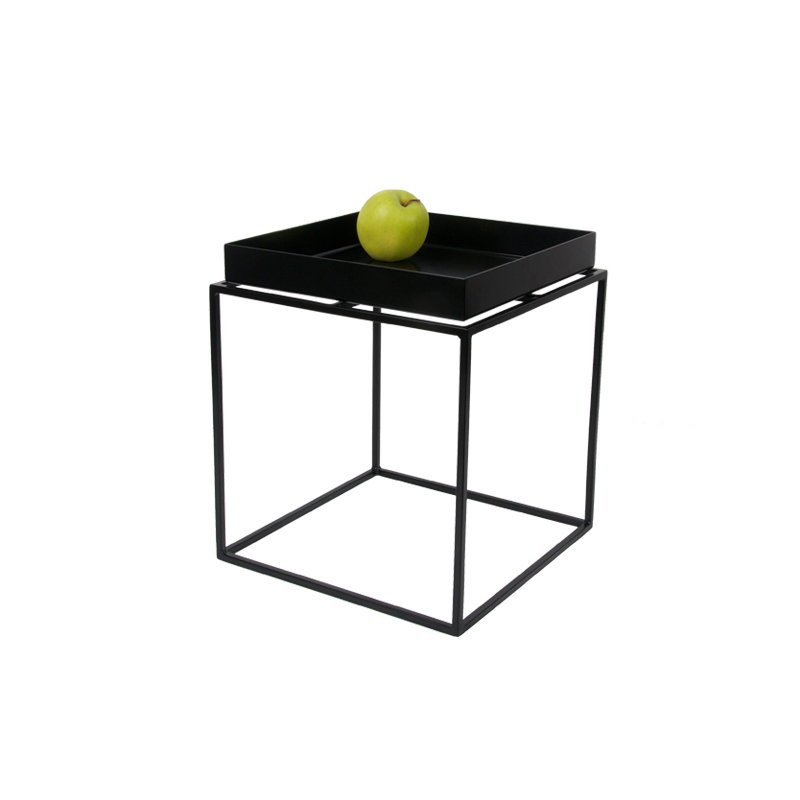 Tray Table Small Square, Black