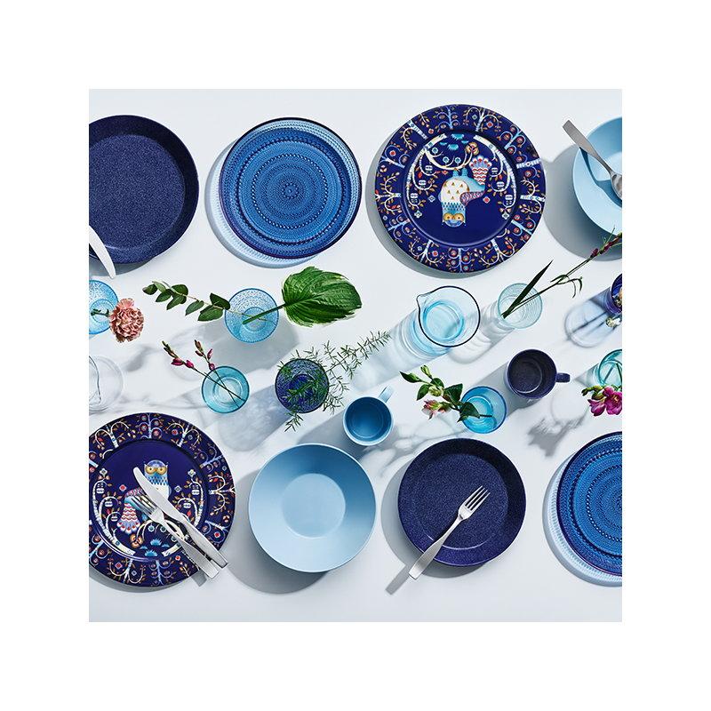 iittala teema lautanen 17 cm duo sininen finnish design. Black Bedroom Furniture Sets. Home Design Ideas