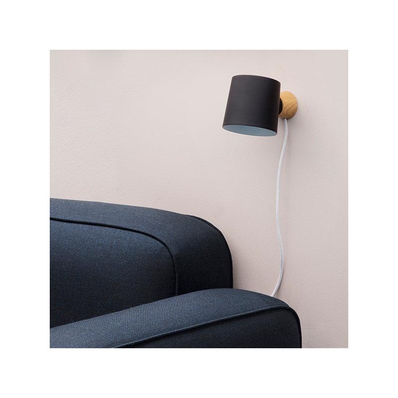 Normann copenhagen lampada da parete rise bianca - Lampada da parete design ...