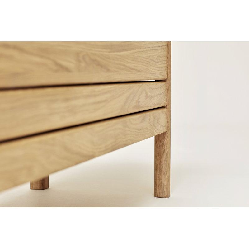 Pleasant A Line Storage Bench Oak Short Links Chair Design For Home Short Linksinfo