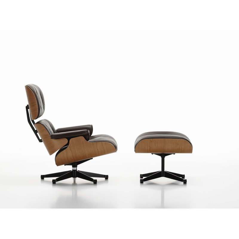 Remarkable Eames Lounge Ottoman American Cherry Black Leather Andrewgaddart Wooden Chair Designs For Living Room Andrewgaddartcom
