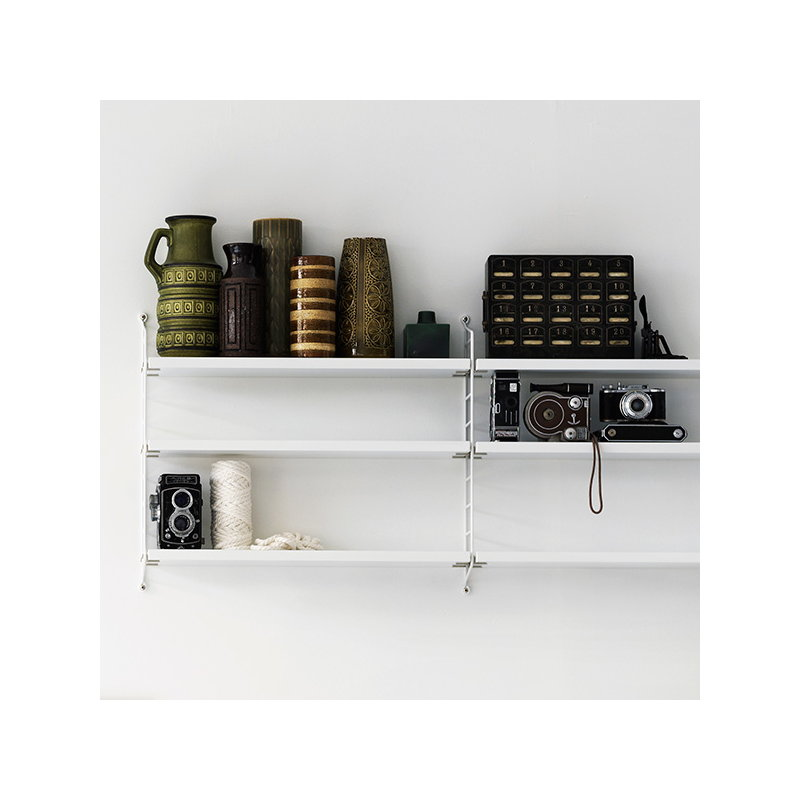 string string pocket shelf white finnish design shop. Black Bedroom Furniture Sets. Home Design Ideas