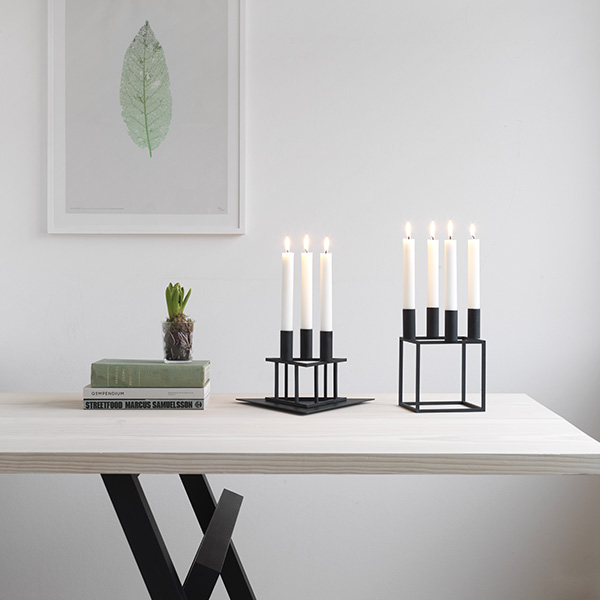 by lassen kubus 4 kynttil njalka musta finnish design shop. Black Bedroom Furniture Sets. Home Design Ideas
