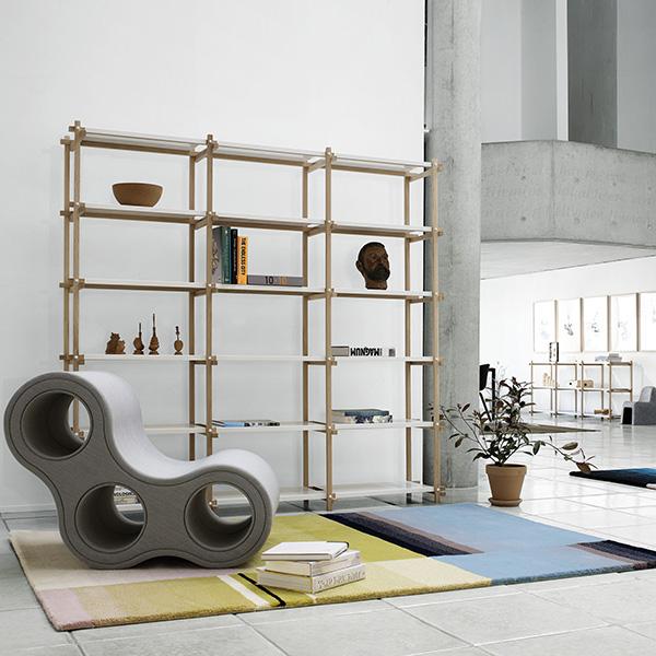 hay scaffale alto woody bianco finnish design shop. Black Bedroom Furniture Sets. Home Design Ideas