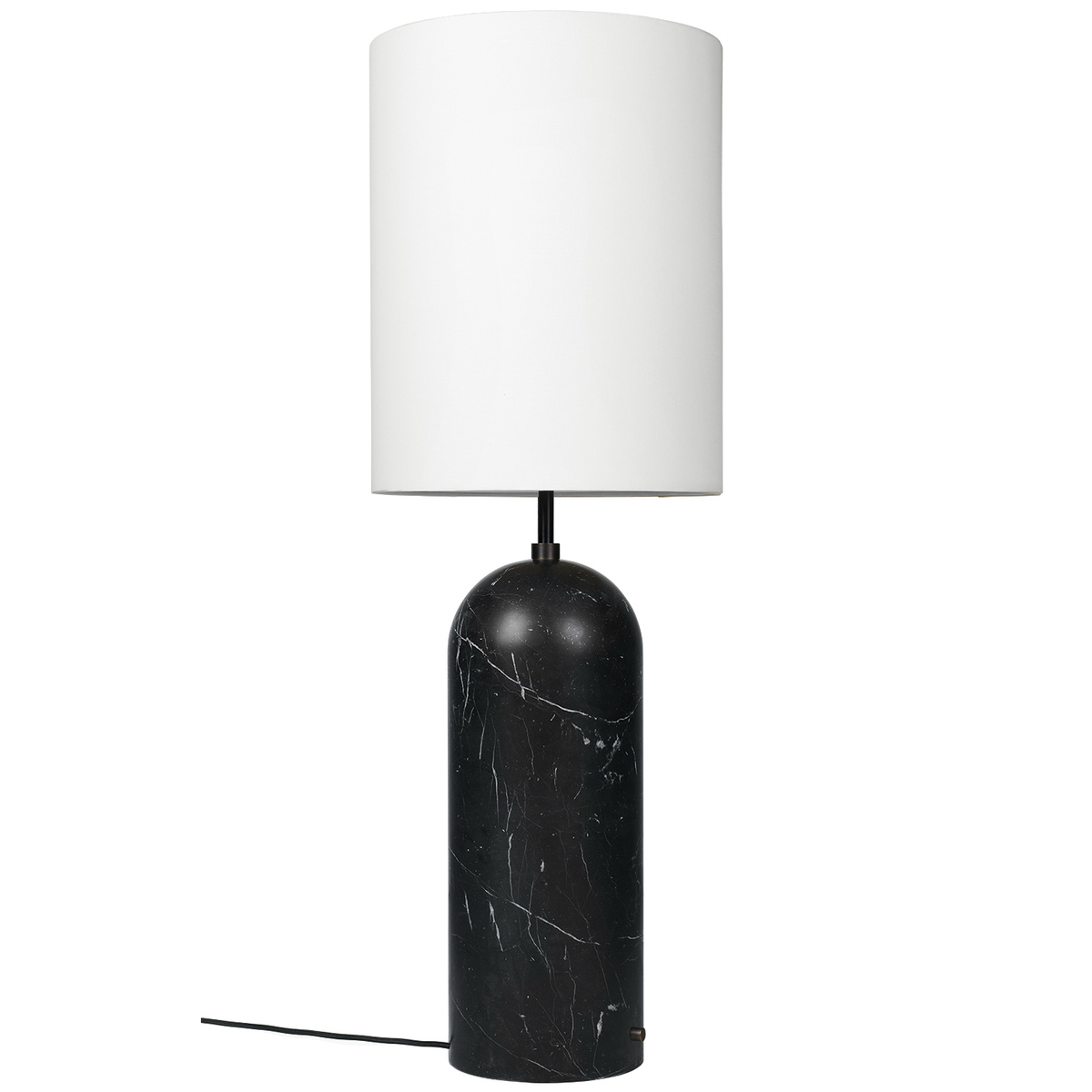Picture of: Gubi Gravity Xl Floor Lamp High Black Marble White Finnish Design Shop