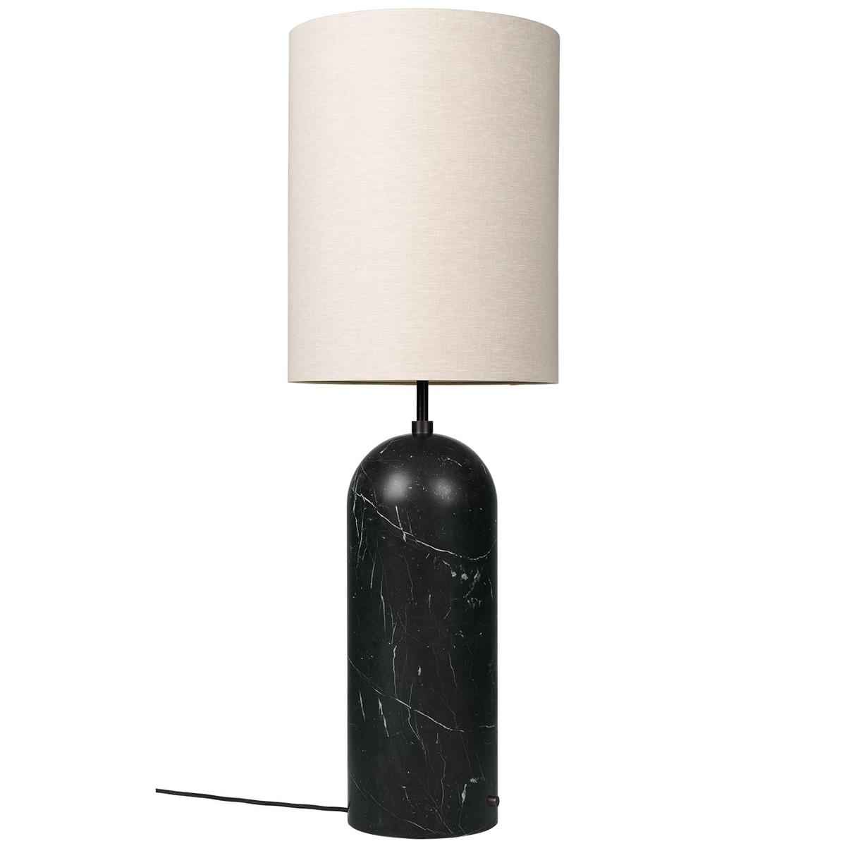 Gubi Gravity Xl Floor Lamp, High, Black Marble - Canvas