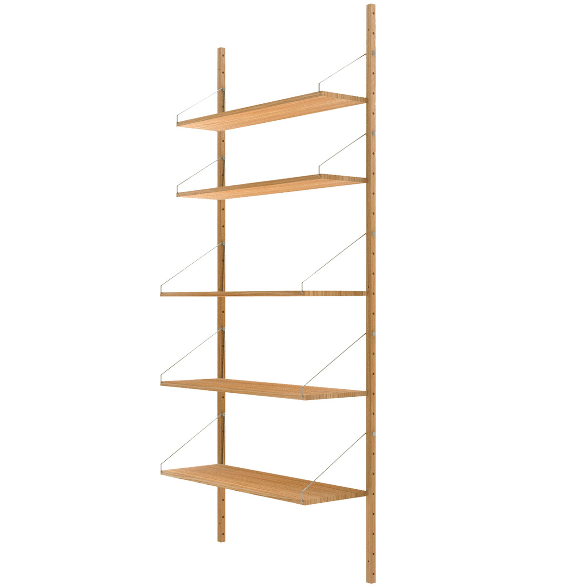 Wall To Wall Shelves frama shelf library wall shelf, high | finnish design shop