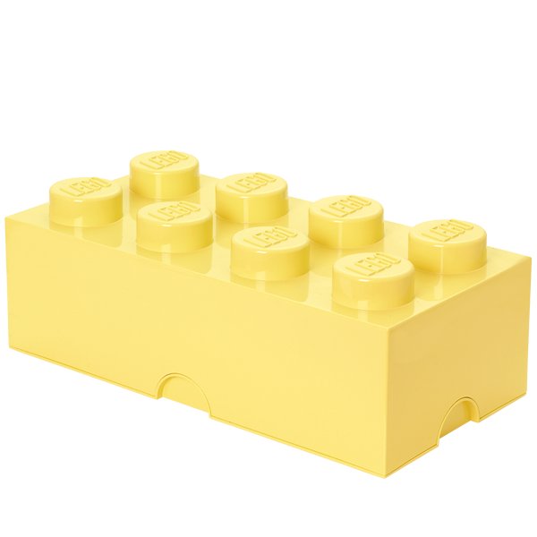 room copenhagen lego storage brick 8, soft yellow
