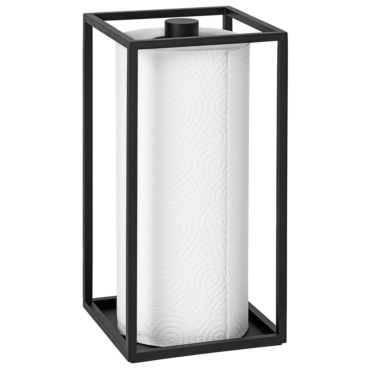Kubus Roll\'in kitchen paper holder, black