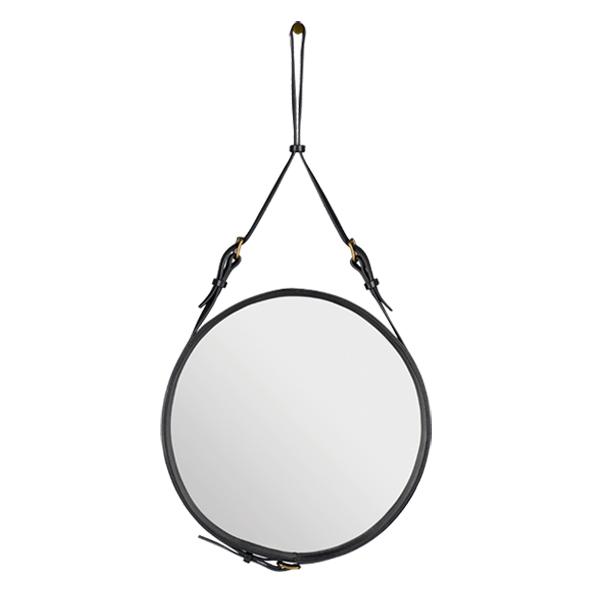 Gubi specchio adnet s nero finnish design shop for Casa miroir rond