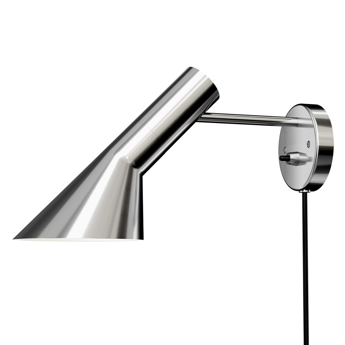 Louis Poulsen Aj Wall Lamp, Polished Stainless Steel