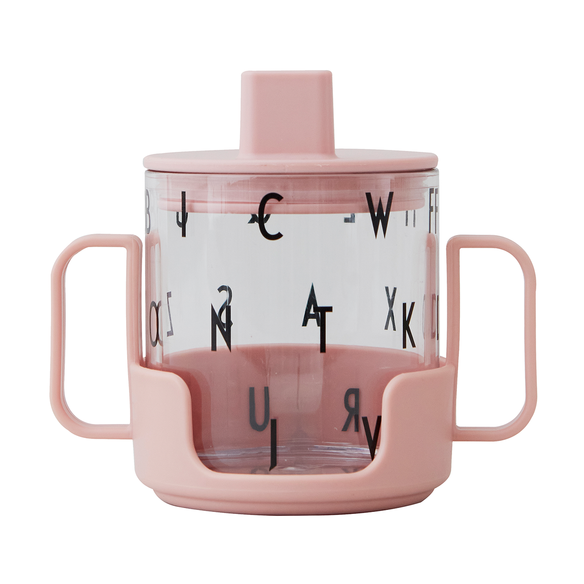 Design Letters Grow With Your Glass Tritan Cup, Light Pink