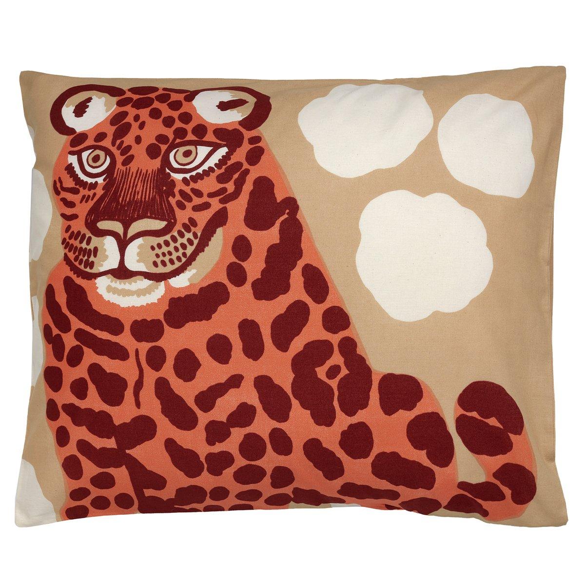 Marimekko Kaksoset Pillowcase, 50 X 60 Cm, Beige - Burgundy - Orange
