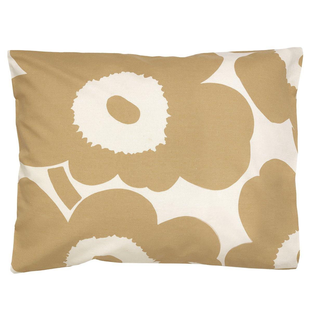 Marimekko Unikko Pillowcase 50 X 60 Cm, Cotton - Beige