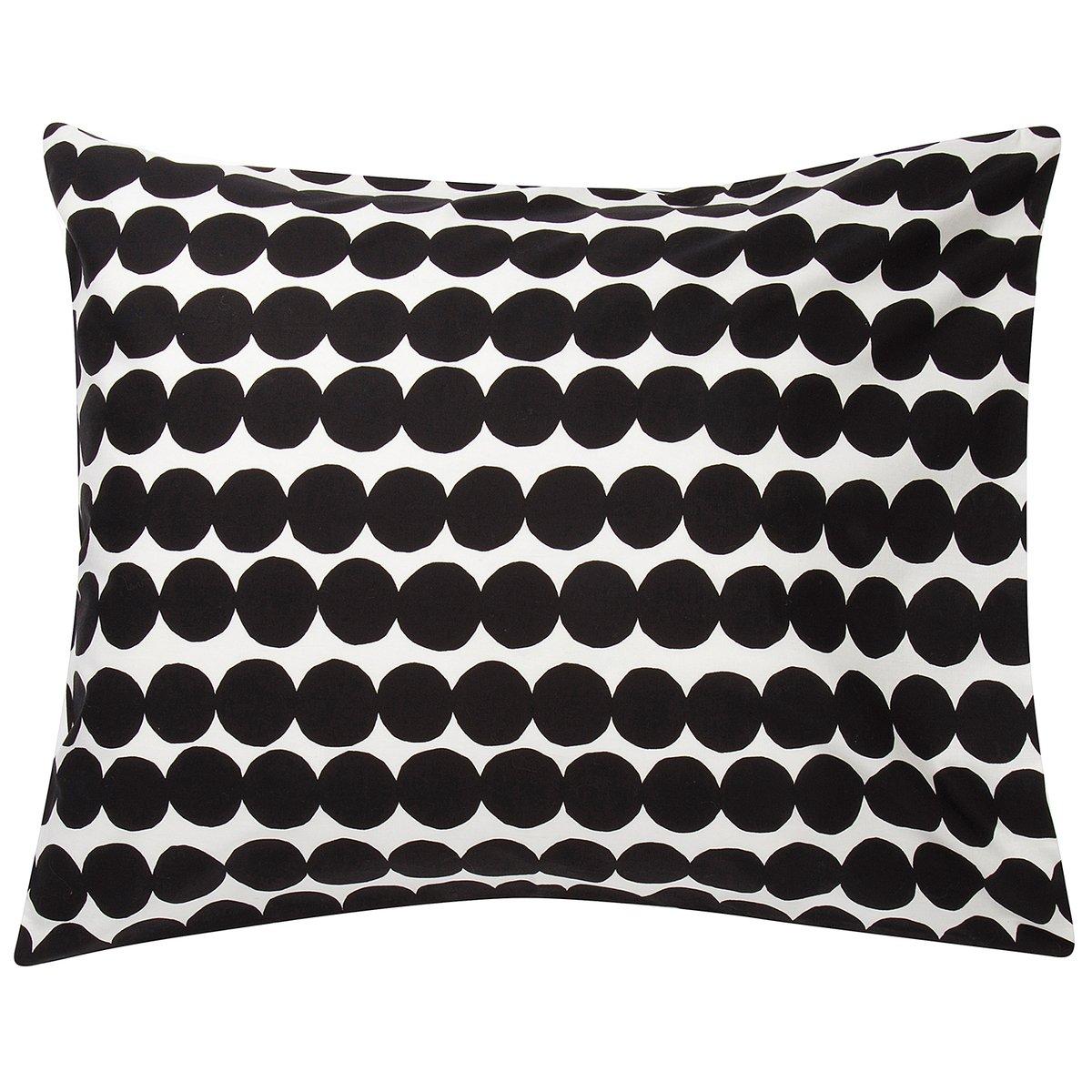 Marimekko Räsymatto Pillowcase, White - Black