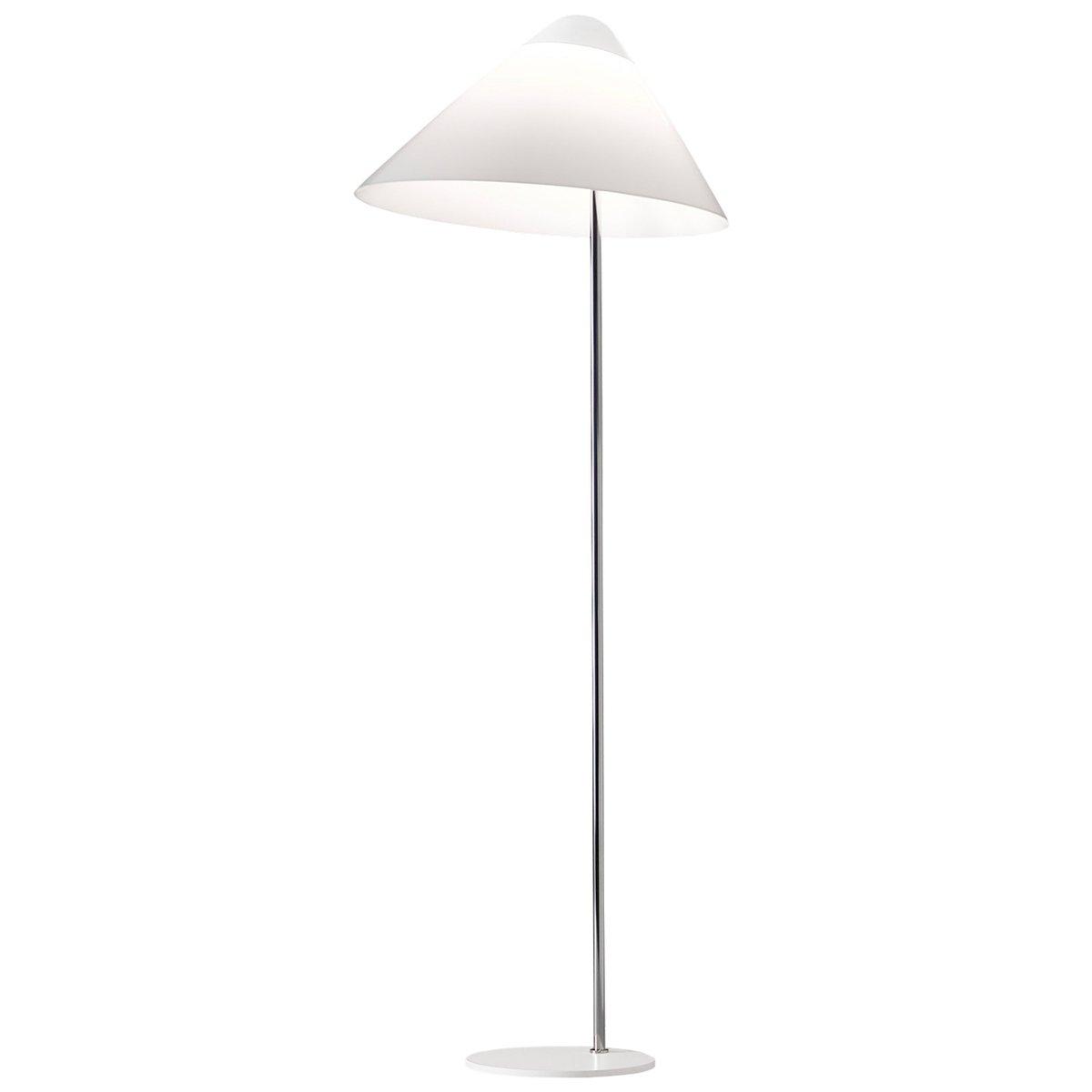 Pandul Opala Midi Floor Lamp, White