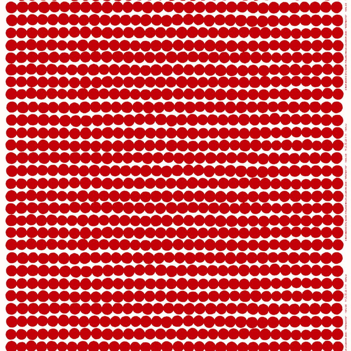 Marimekko räsymatto fabric red white finnish design shop