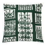 Pariisin Portit cushion cover, dark green - off white