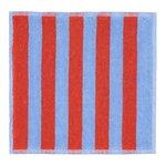 Marimekko Kaksi Raitaa minipyyhe, sininen - punainen