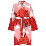 Marimekko Mansikkavuoret kylpytakki, vaaleanpunainen - punainen